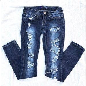 """Bongo distressed skinny fit jeans """"London"""" style"""